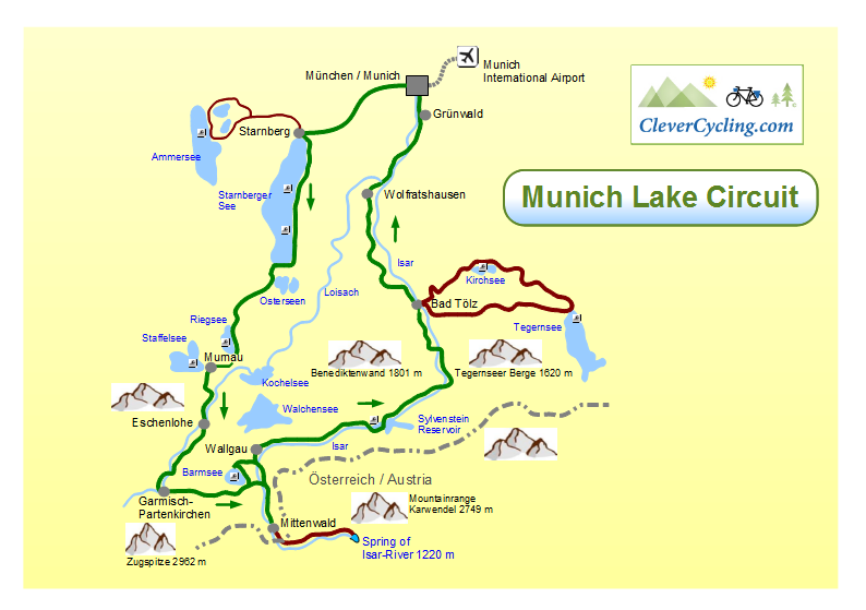 Clever Cycling in GermanyMunich Lake Circuit top tour into the Alps